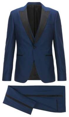 HUGO BOSS Wool 3-Piece Tuxedo, Extra Slim Fit Rendal/Wilden WE 36RBlue