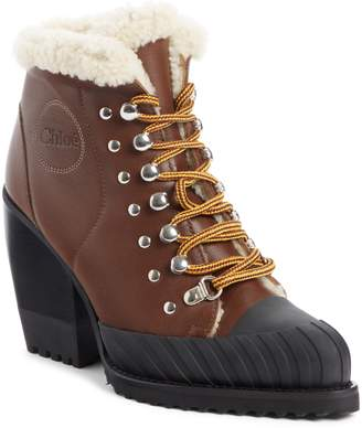 Chloé Rylee Genuine Shearling Lined Hiking Boot