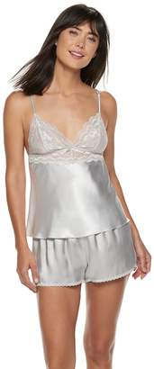 Apt. 9 Women's Satin Lace Cami & Shorts Pajama Set