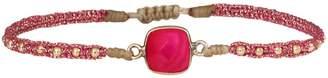 LeJu London Pink Agate Handwoven Bracelet