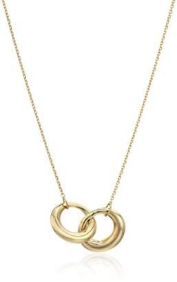 14k Gold Interlocking Circle Necklace