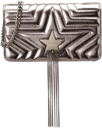 Stella McCartney Small Flap Metallic Shoulder Bag