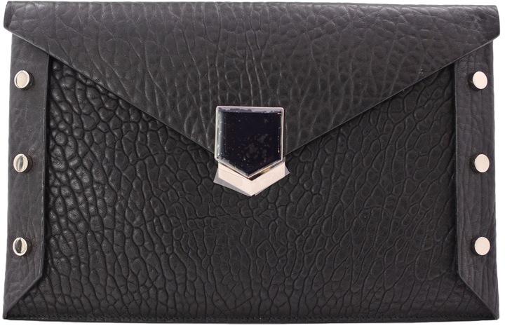 Jimmy ChooLockett leather clutch bag
