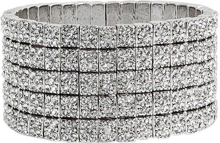 Philippe Audibert Silver crystal cuff