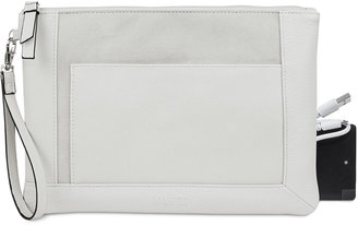Kenneth Cole Reaction Large Pouch Wristlet with Portable Battery Charger $68 thestylecure.com