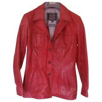 Oakwood Red Leather Jacket for Women