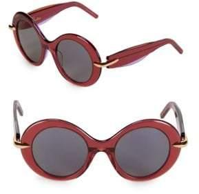 Pomellato 51MM Round Sunglasses