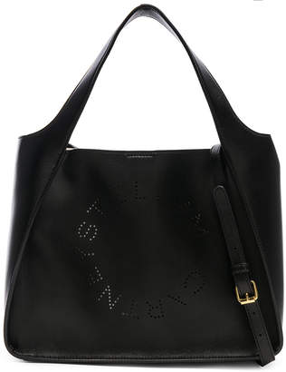 Stella McCartney Perforated Logo Crossbody Tote