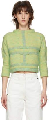 Eckhaus Latta Green Uni Weave Sweater