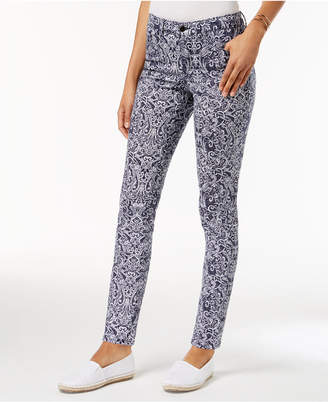 Charter Club Petite Mckenna Printed Jeans, Created for Macy's