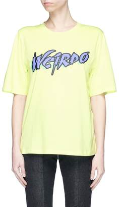 Ground Zero 'Weirdo' slogan print T-shirt
