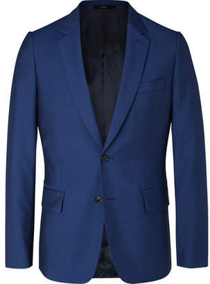 Paul Smith Navy Soho Slim-fit Wool And Mohair-blend Suit Jacket - Royal blue
