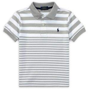 Ralph Lauren Little Boy's Striped Mesh Polo