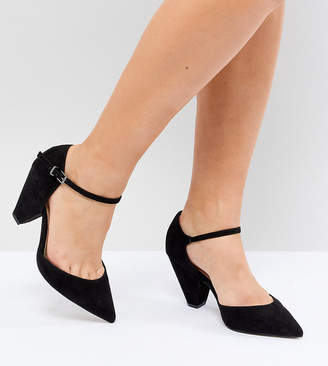 Asos Design DESIGN Speaker Extra Wide Fit Pointed Heels