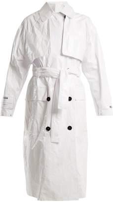 Tyvek tie-waist trench coat