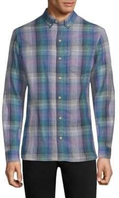 Surf Side Supply Regular-Fit Oswald Plaid Gauze Shirt