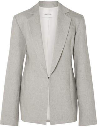 Georgia Alice - Oversized Wool-blend Blazer - Light gray