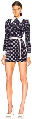 Alessandra Rich Polka Dot Mini Dress