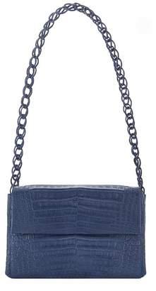 Nancy Gonzalez Small Crocodile Double Chain Shoulder Bag
