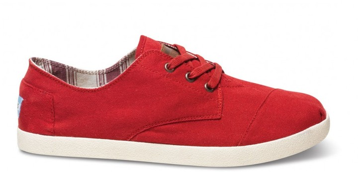 Toms Red canvas men's paseos