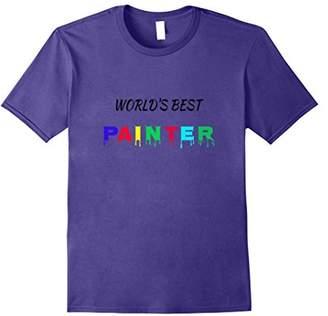 World's Best Painter - Artist Gift Painting Builder T-Shirt
