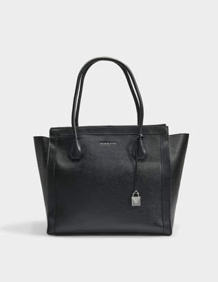MICHAEL Michael Kors Mercer Studio East-West XL Tote Bag in Black Soft Mercer Pebble Leather