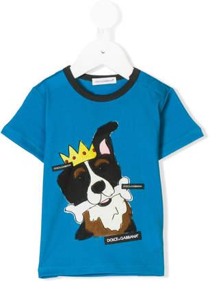 Dolce & Gabbana king dog print T-shirt