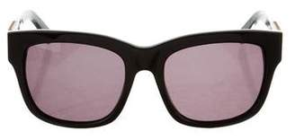 Balmain Embellished Square Sunglasses w/ Tags