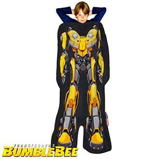 Bumble Bee Blankie Tails Transformers Bumblebee The Movie Shaped Blanket Super Soft-Double Sided Minky Fleece Sized for Kids- Climb Inside This Cozy Wearable Blanket