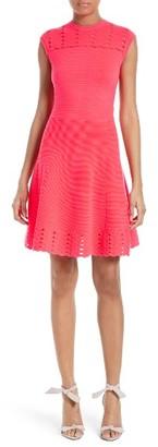Women's Ted Baker London Zaralie Jacquard Panel Skater Dress $279 thestylecure.com
