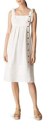 Whistles Button Detail Linen Dress