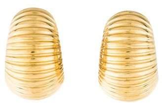 Roberto Coin 18K Ribbed Huggie Earrings
