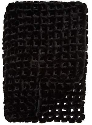 Adrienne Landau Crocheted Mink Fur Throw