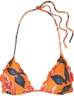 Vix Tulum Floral-print Triangle Bikini Top