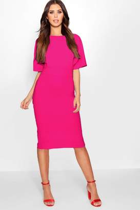 boohoo Petite Formal Wiggle Midi Dress