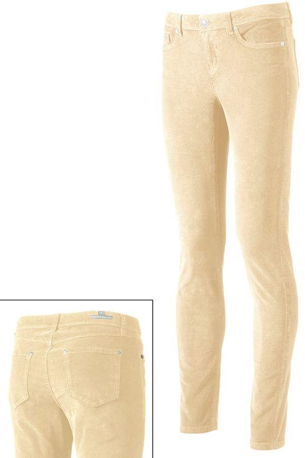Lauren Conrad skinny corduroy pants - women's