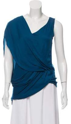 Helmut Lang Ruched Draped Top