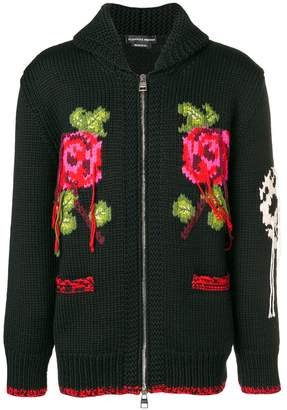 Alexander McQueen intarsia chunky knit cardigan