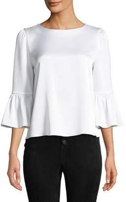 Alice + Olivia Bernice Ruffle-Sleeve Top
