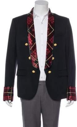 Balmain Sequined Wool Blazer black Sequined Wool Blazer