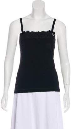 Blumarine Sleeveless Lace-Accented Top