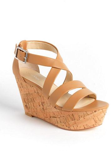 Calvin Klein Vonnie Leather Wedge Sandals