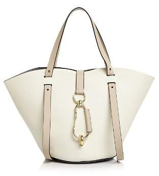 Zac Posen Belay Small Color-Block Leather Tote