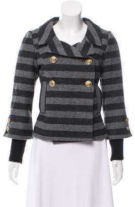 Smythe Striped Wool-Blend Blazer