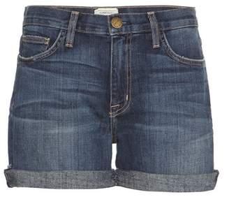 Current/Elliott The Boyfriend Rolled denim shorts