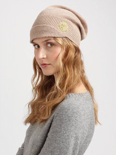 Juicy Couture Knit Newsboy Hat