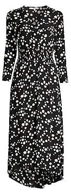Maje Women's Rosila Daisy Print Crepe Midi Dress