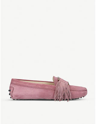 Tod's Tods Gommini fringe-detail suede driving shoes