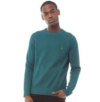 07c0af237419a5 Farah Mens Rotterdam Long Sleeve Sweater Bright Emerald Marl