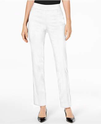 JM Collection Pull-On Tummy Control Slim-Leg Pants, Short Length